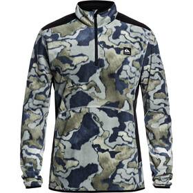 Quiksilver Aker Fleece Capuchon trui met 1/2 rits Heren, black sir edwards